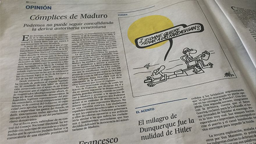 'Cómplices de Maduro', el editorial de El País
