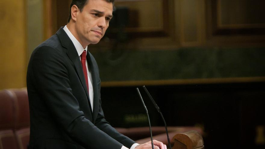 Pedro Sánchez afronta el debate sólo con el apoyo de C's y apelando a la izquierda, pese al último portazo