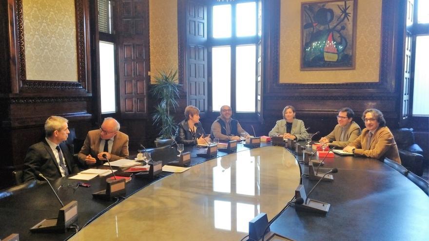 Comienza la última reunión de la Mesa del Parlament presidida por Forcadell