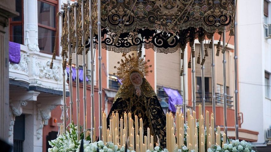 Procesión de la Virgen de la Soledad en Badajoz