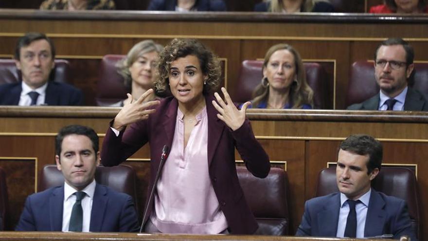 Dolors Montserrat intenta explicarse en la sesión de control del miércoles.