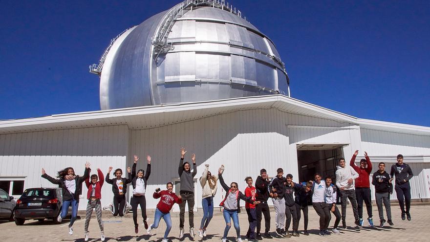 Alumnas y alumnos de 4º de ESO (Educación Secundaria Obligatorio)  del Colegio Santo Domingo de Guzmán (La Palmita) de Santa Cruz de La Palma