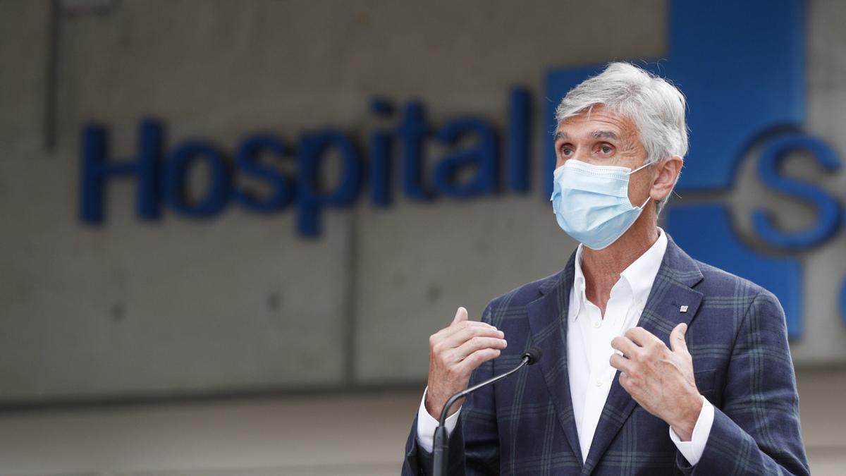 El conseller de Salud, Josep María Argimon.