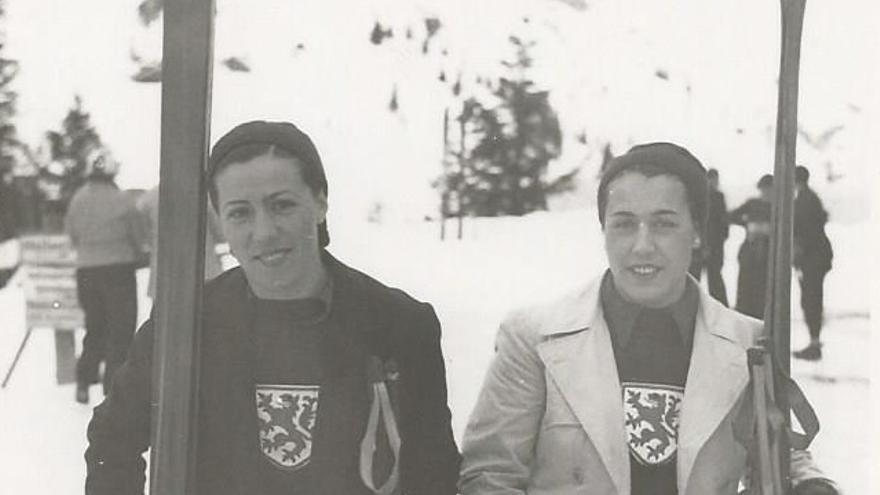 Margot Moles y Ernestina de Herreros en las Olimpiadas de 1936
