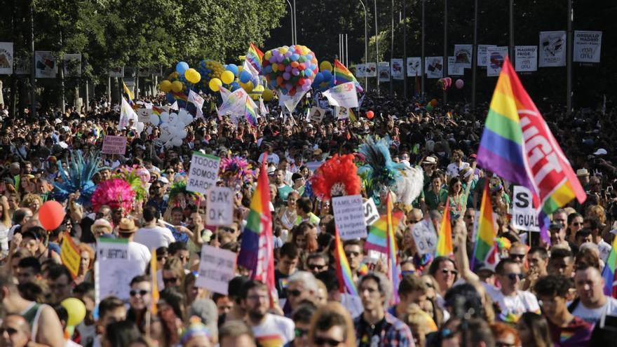 Una multitud ha inundado el centro de Madrid reivindicando la igualdad y la diversidad