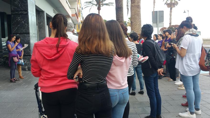 Concentración, este viernes, en Santa Cruz de La Palma.