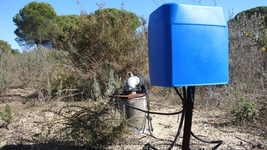 Pozo ilegal perforando el acuífero de Doñana en febrero de 2019 / R.R.