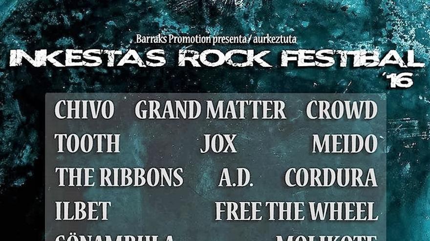 INKESTAS Rock Fest, viernes 30 de septiembre y sábado 1 de octubre en Sopela