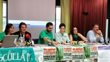 Representantes del Sindicato de Estudiantes, Comisiones Obreras y la Marea verde madrileña llaman a la huelga/ L.O.