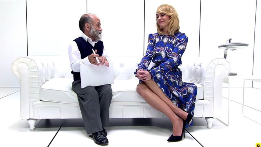 Patricia Conde en su 'funeral' en 'El cielo puede esperar'