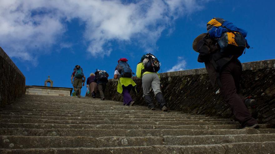 Escaleras de Acceso a Portomarín, final de la etapa 28 del Camino de Santiago.