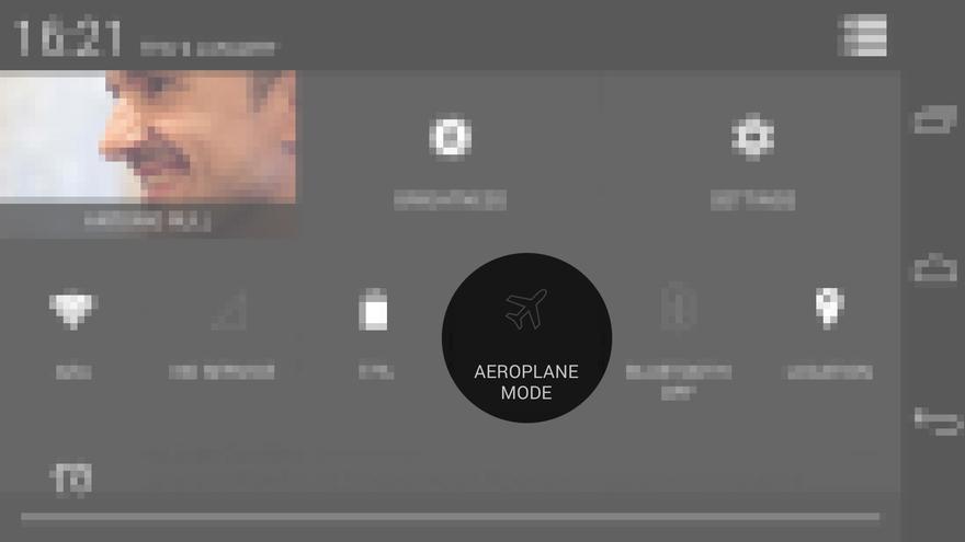 """Activación del """"Modo Avión"""" en un móvil con Android"""