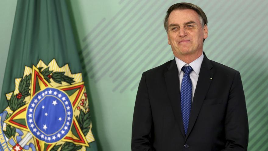 Jair Bolsonaro, en uno de los primeros actos de su gobierno en este mes de enero