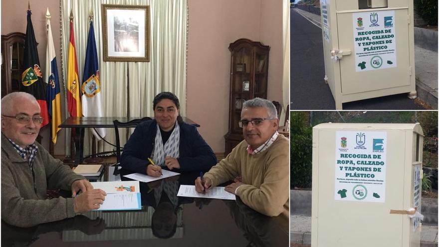 Acto firma del convenio de colaboración entre el Ayuntamiento de Fuencaliente e Isonorte.