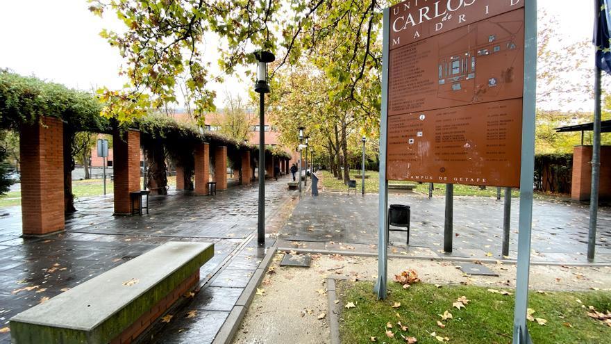 Cartel con el mapa del campus de Getafe de la Universidad Carlos III de Madrid, en Madrid a 22 de noviembre de 2019.