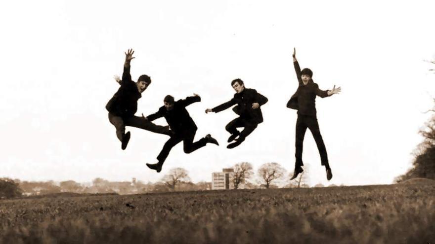 Los Beatles, felices de verse en Spotify