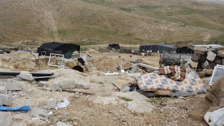 Sesenta palestinos en Yimba, en la calle por las demoliciones israelíes