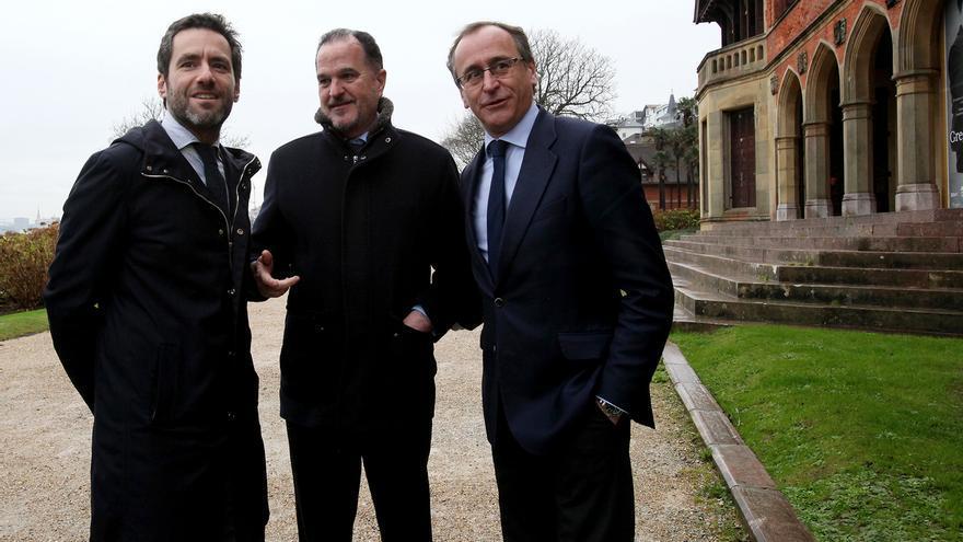 Borja Semper, Carlos Iturgaiz y Alfonso Alonso.