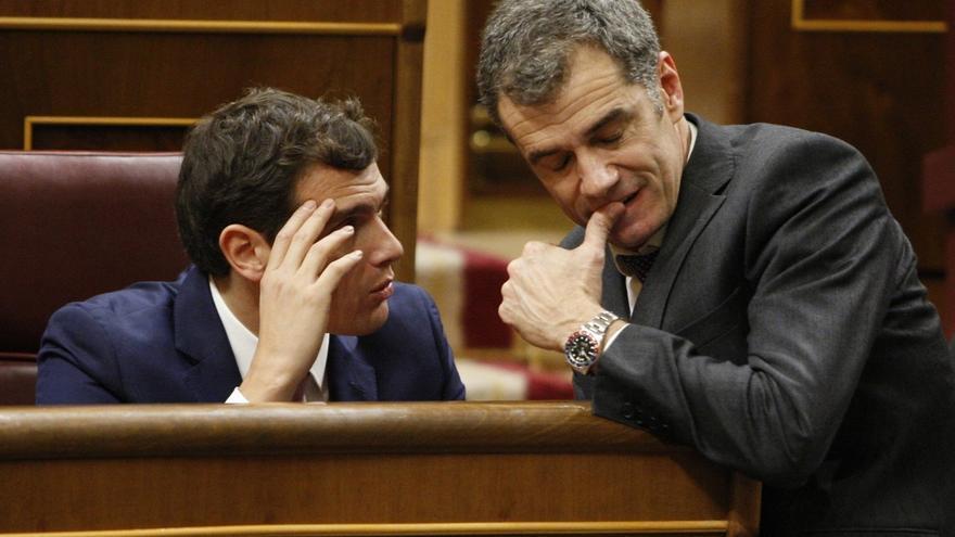 Albert Rivera y Toni Cantó en el Congreso de los Diputados