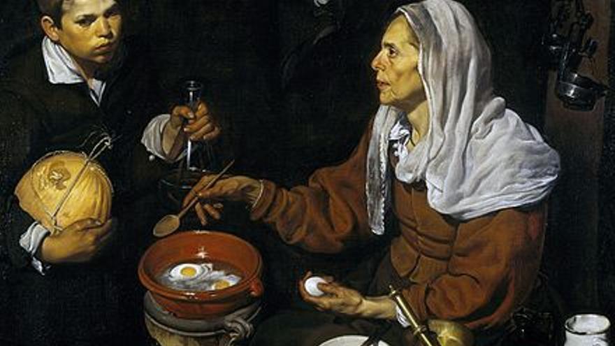 'Mujer friendo huevos', cuadro de Diego Velázquez
