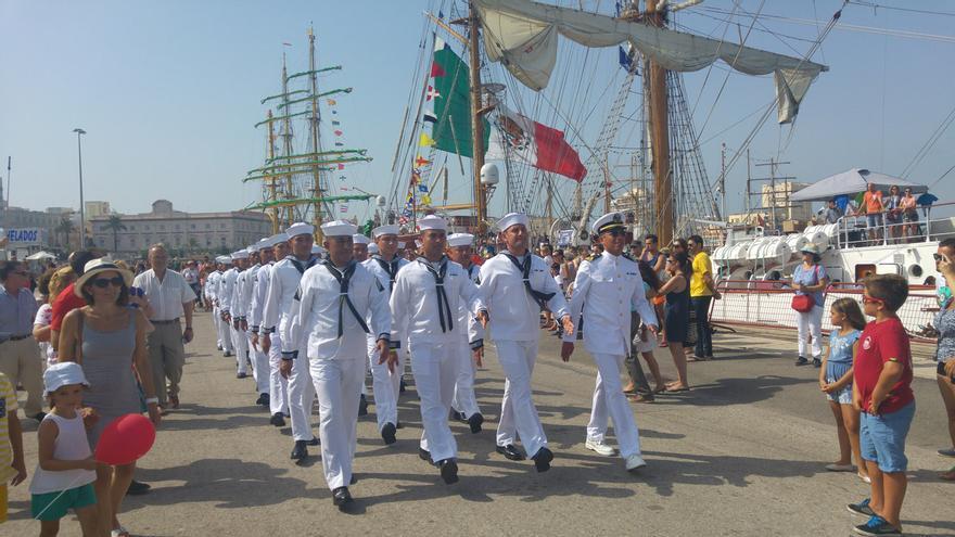 Formando en la Gran Regata de Cádiz 2016.