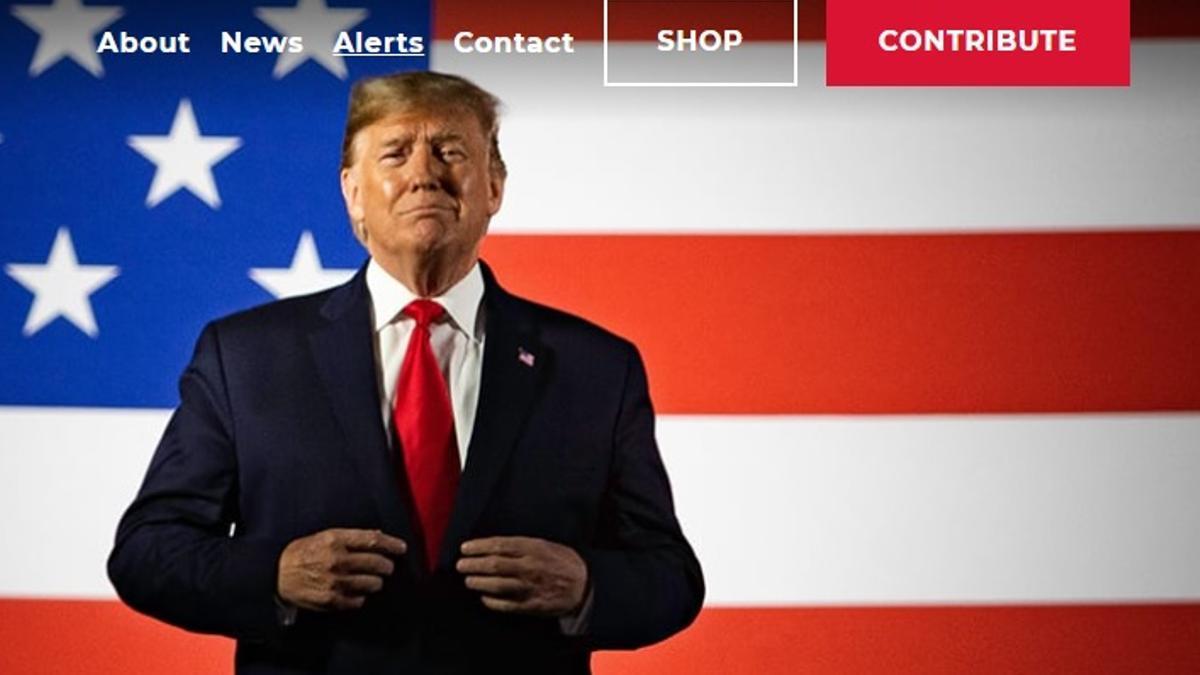 From the Desk of Donald GTrump, el sitio creado por el expresidente el 4 de mayo de 2021.