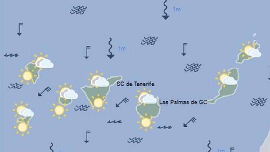 Previsión de la AEMET para este viernes en Tenerife