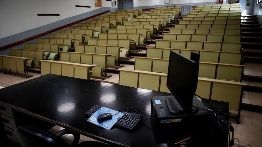 Aula de la Facultad de Economía y Empresa de la Universidad de Barcelona.