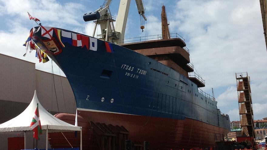 Astilleros Murueta bota un buque atunero para la compañía de Pesca y Derivados Inpesca