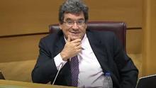El ministro José Luis Escrivá en el Senado.