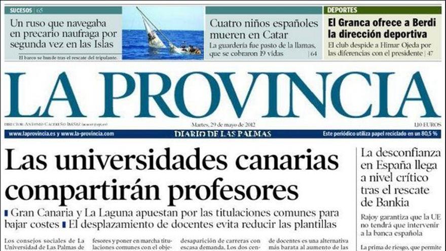 De las portadas del día (29/05/2012) #1