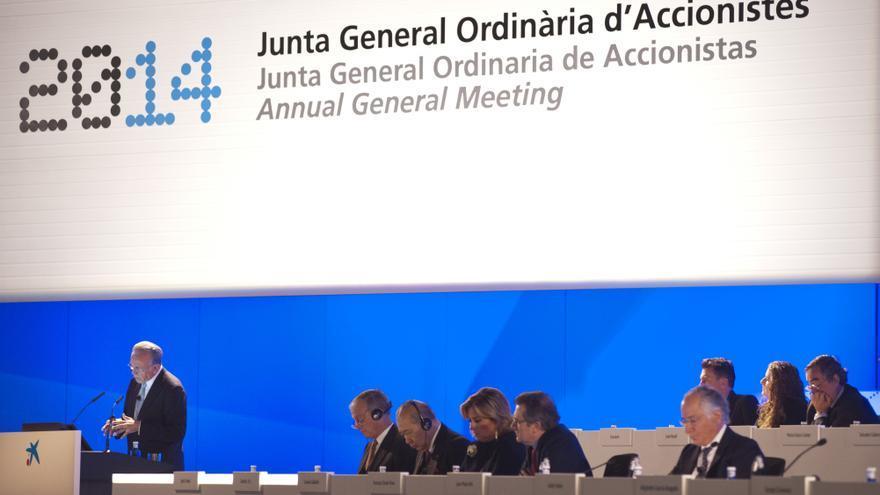Junta de accionistas de CaixaBank en 2014. Foto: CaixaBank