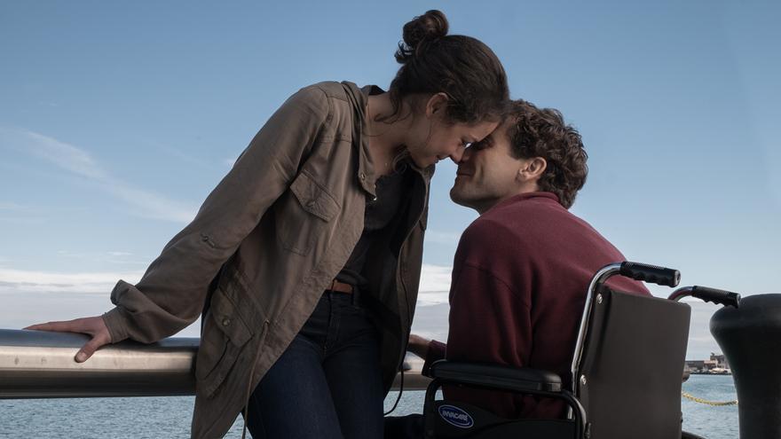 Imagen promocional de la película 'Stronger', con Tatiana Maslany y Jake Gyllenhaal