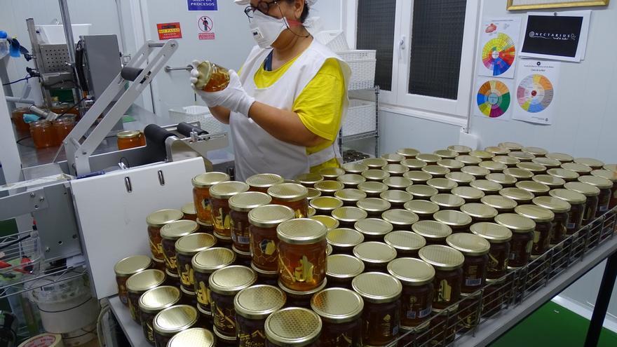 Envasado de la miel