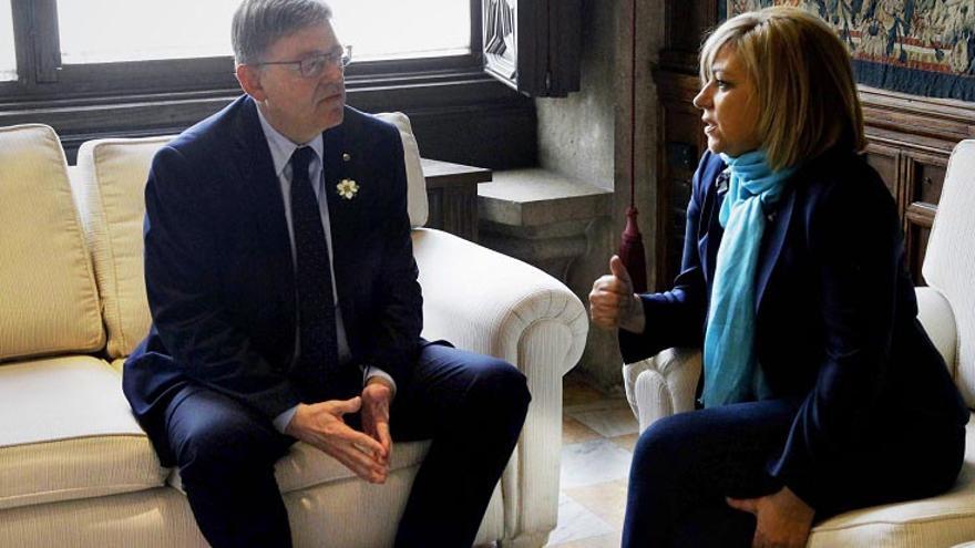 El president Puig con la presidenta de la Comisión de Derechos Humanos del Parlamento Europeo, la socialista Elena Valenciano