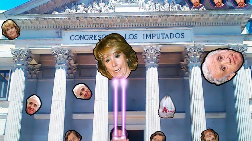 """Uno de los niveles de 'Pablo Iglesias - Casta Wars', ambientado en el Congreso de los """"Imputados"""""""