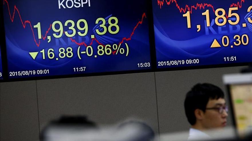 El Kospi surcoreano sube un 0,36 por ciento hasta los 2.038,05 puntos