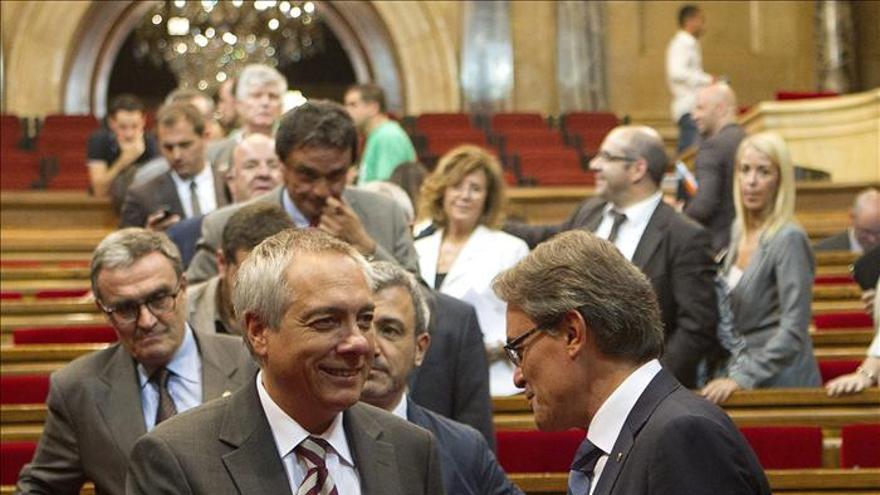 Mas y Navarro se reunieron para hablar de BCN World y la agresión al líder del PSC
