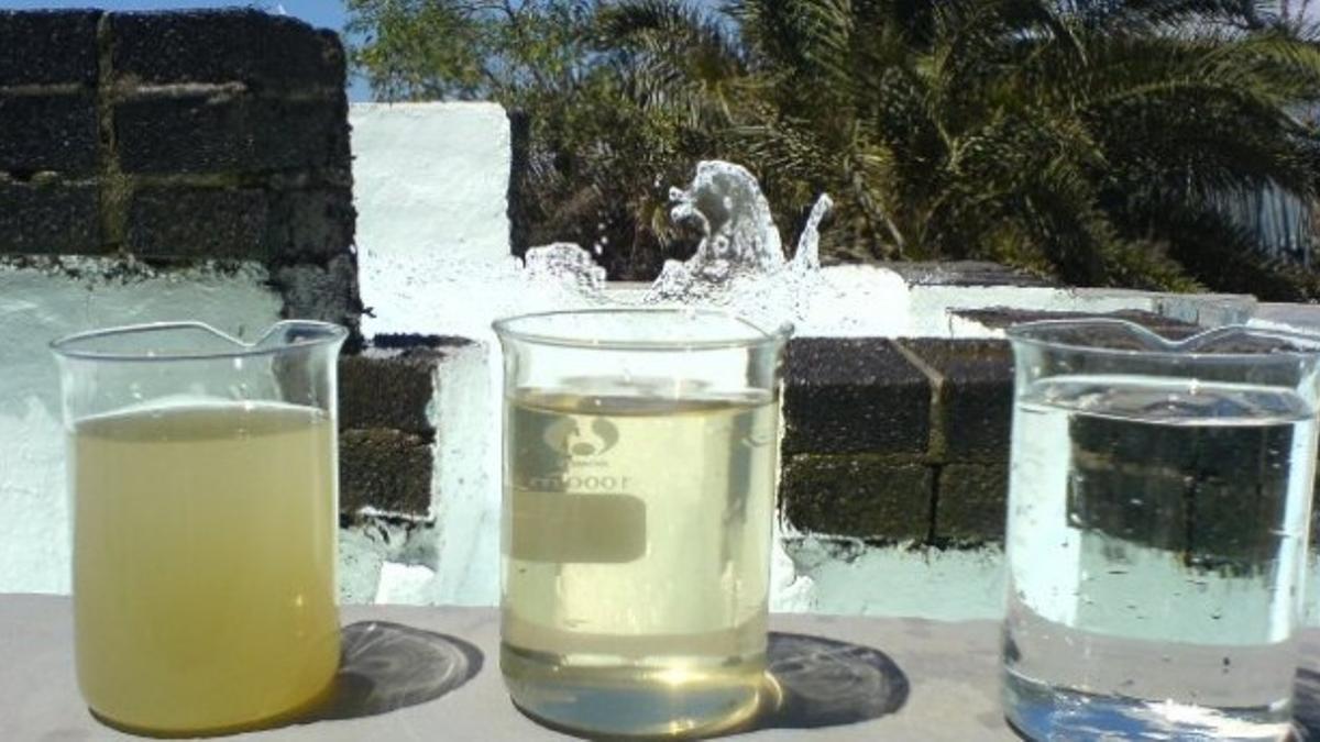 Diferentes tipos en agua en función del proceso de depuración.