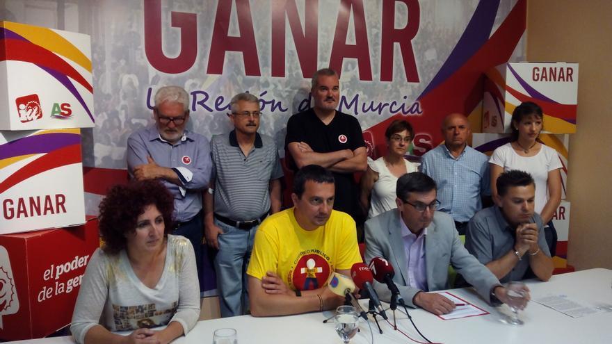 Rueda de prensa de Pujante al respecto de la agresión sufrida por el concejal de IU en Cehegín