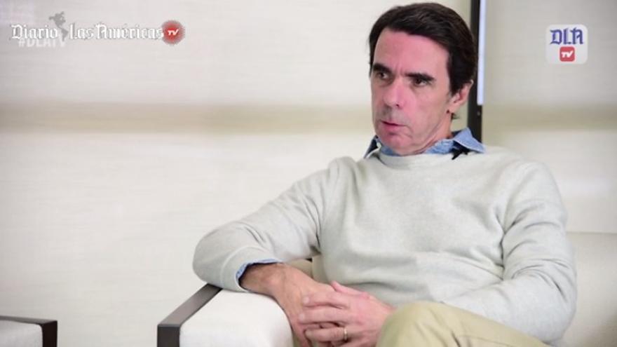 Aznar, durante su entrevista en Diario de las Américas.