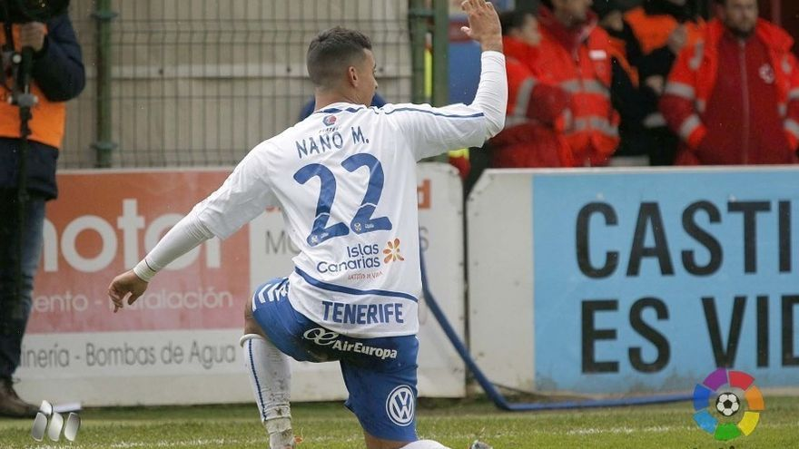 El jugador del CD Tenerife, Alexander Mesa 'Nano'.