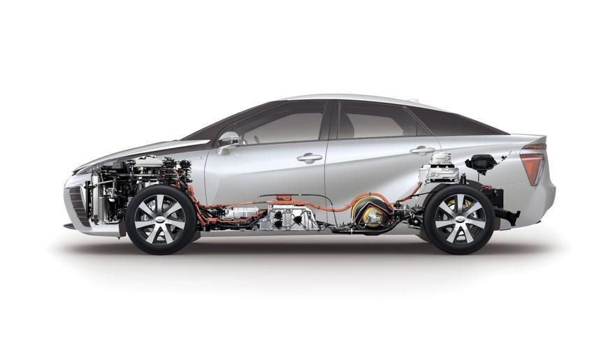El esquema técnico del Toyota Mirai.