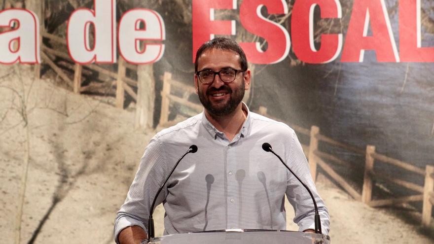 Sergio Gutiérrez (PSOE) esta tarde en Escalona (Toledo)