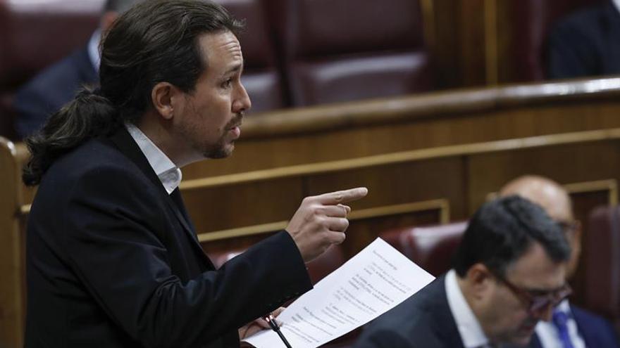Iglesias alerta a sus diputados de que España va hacia un estado de excepción