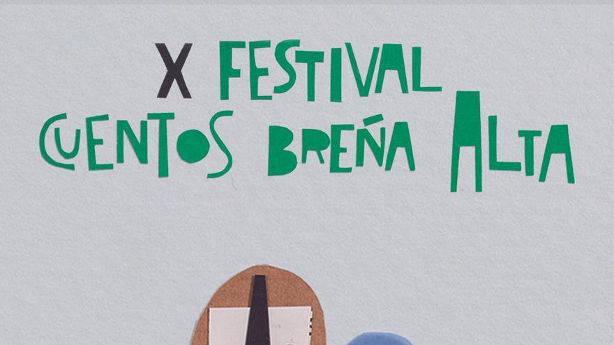 Cartel del X Festival del Cuento de Breña Alta.