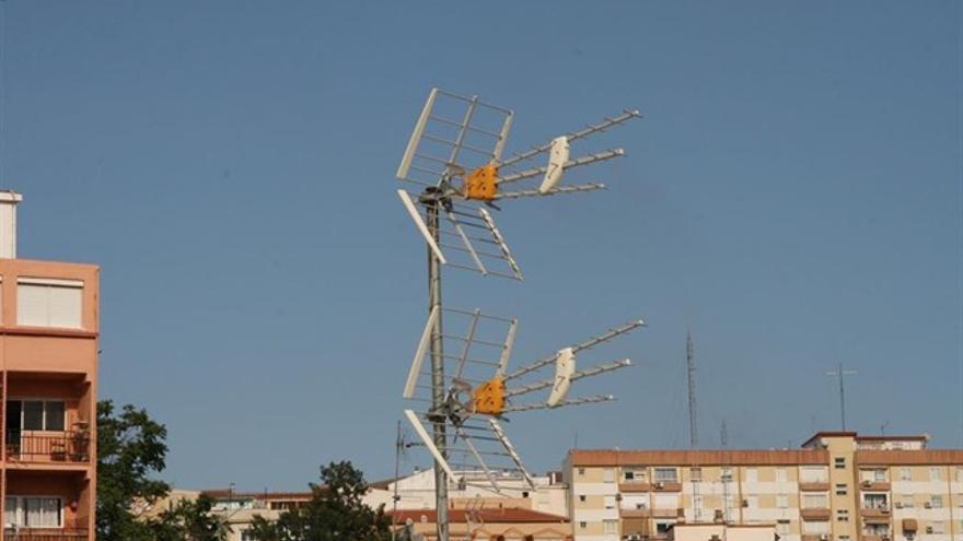 Antenas de televisión en una imagen de archivo.
