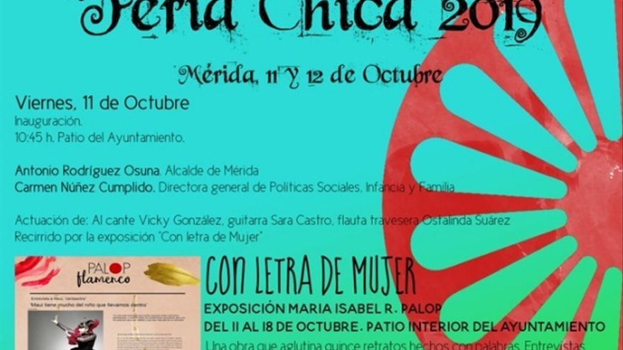 Detalle del cartel de la Feria Chica de Mérida