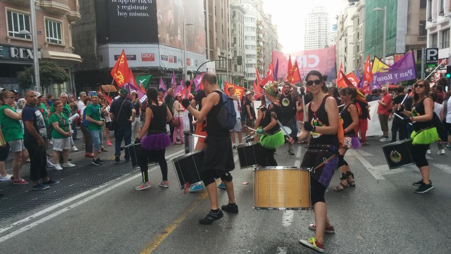 Batucada en las Marchas de la Dignidad