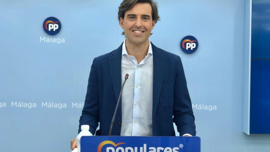 El vicesecretario de Comunicación del PP, Pablo Montesinos, en rueda de prensa